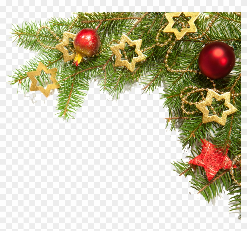 Christmas Border Png Images - Corner Christmas Decoration Png Clipart #30593