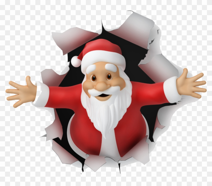 So Guys, I Hope You Will Love This Amazing Collection - Draw Santa Claus 3d, HD Png Download #31192