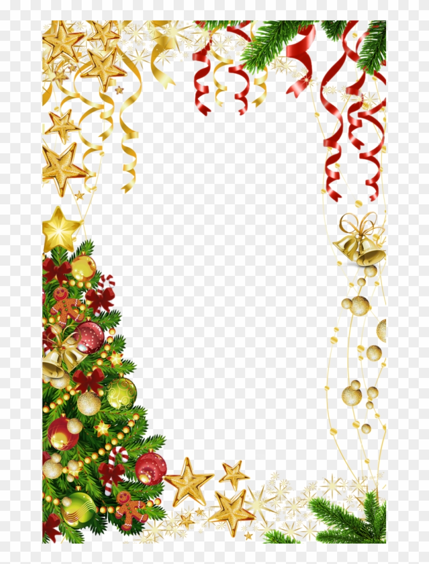 Christmas Border Transparent Background - Christmas Page Border Transparent Clipart #31383