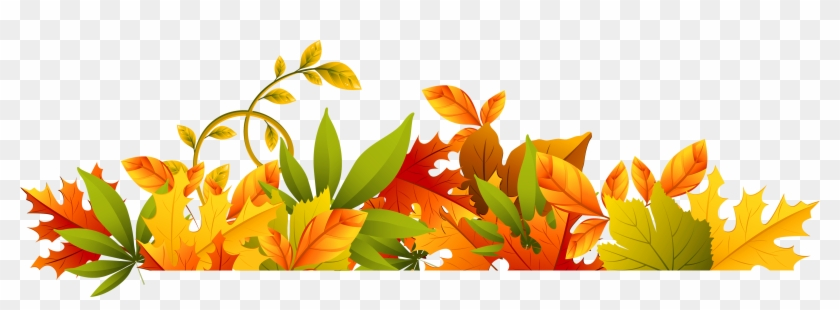 Fall Borders Images Clipart - Free Clipart Autumn Leaves Border - Png Download #31917
