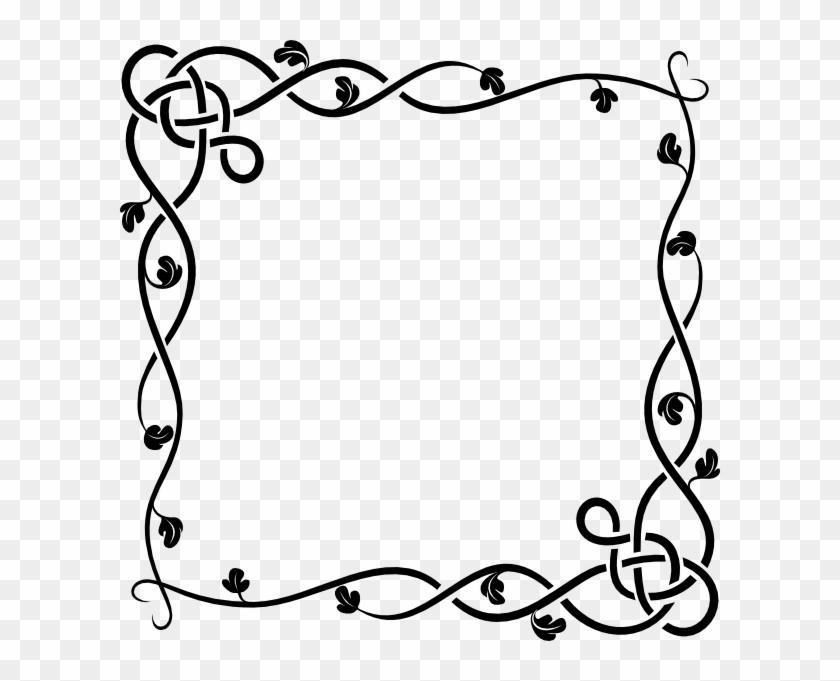 Vine Border Clip Art - Designs On Paper Borders - Png Download #32299