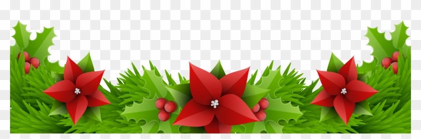 Floral Design Amaryllis Belladonna Cut Flowers Christmas - Christmas Borders Hd Png Clipart #32549