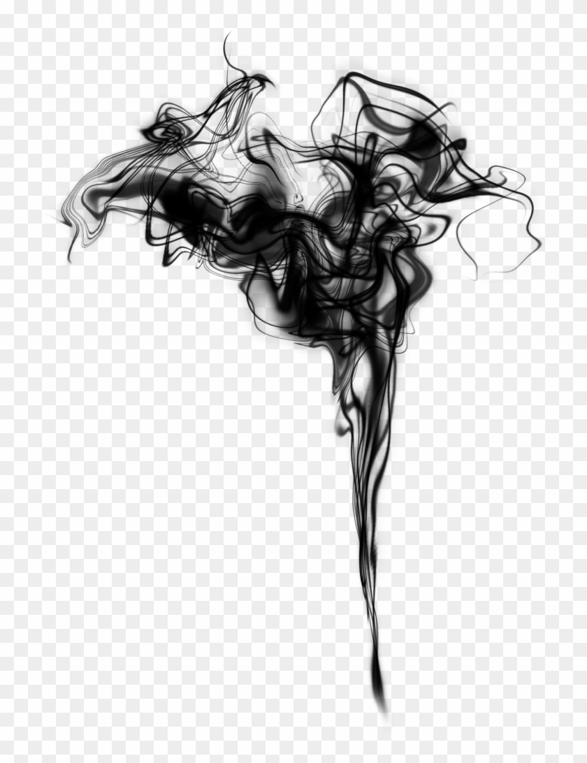 Black And White Drawing Smoke Monochrome Photography - Picsart Black Smoke Png Clipart #33687
