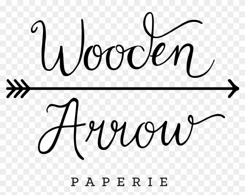 Drawn Arrow Wedding - Calligraphy Clipart #34140