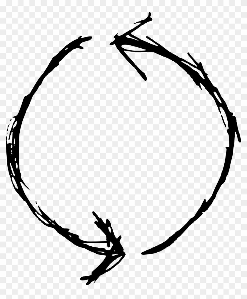Hand Drawn Circle Arrow Png Clipart #34564