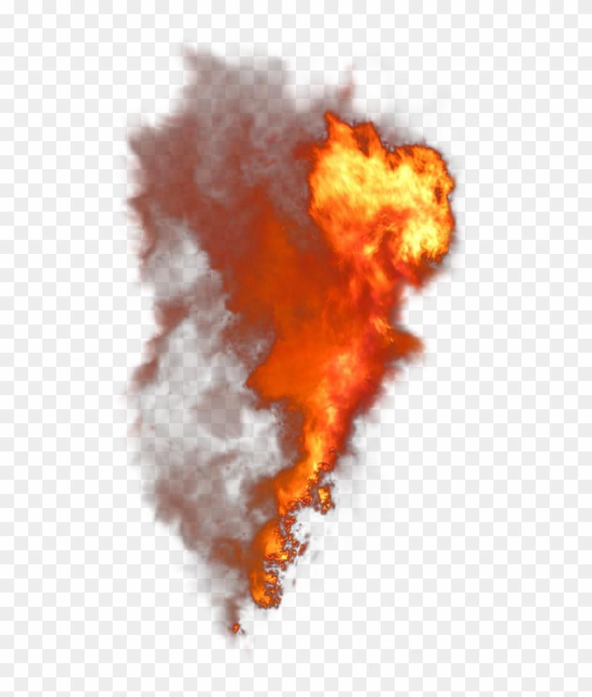 Fire Vertical Smoke - Fire Smoke Transparent Background Clipart #34736
