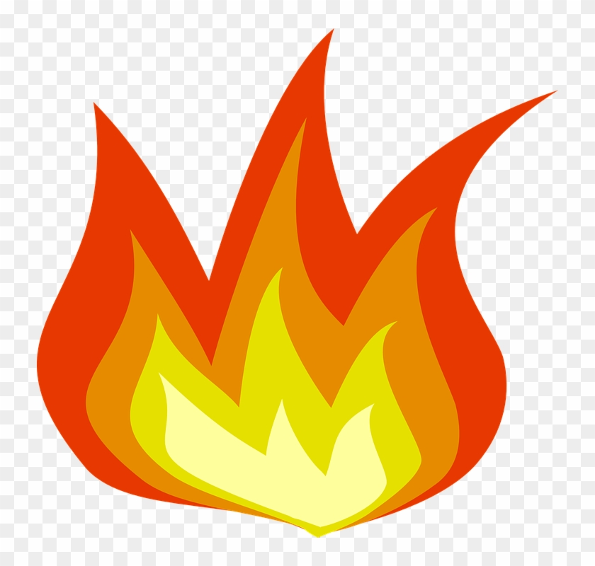 Fire Flame Burning - Flames Clip Art - Png Download #35066