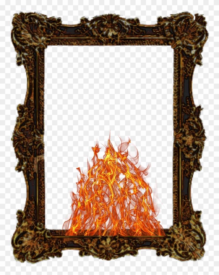 Mq Fire Flames Frame Frames Border Borders - Flame Clipart #35256