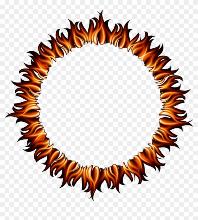 Fire Flames Ring Round Circle Circles Frame Border - Circle Clipart #35908