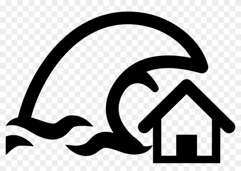 Tsunami Insurance Symbol Of A Home And A Big Ocean Transparent Tsunami Logo Clipart 36262 Pikpng