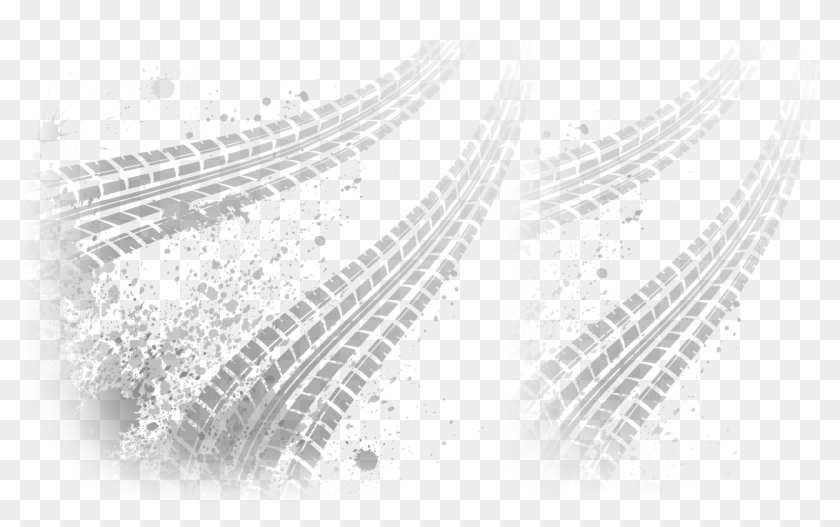 Bike Tire Tracks Png - White Tire Track Png Clipart #37775