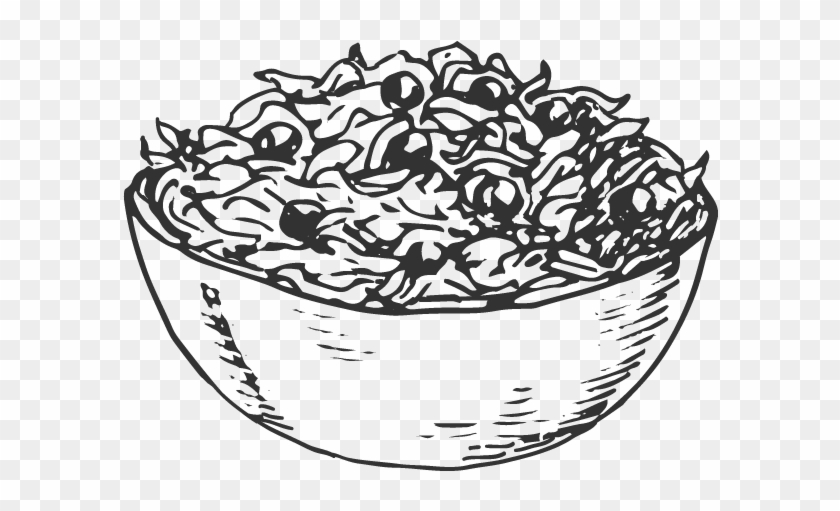 Svg Freeuse Library Drawing At Getdrawings Com Free - Salad Bowl Line Drawing Clipart #39114
