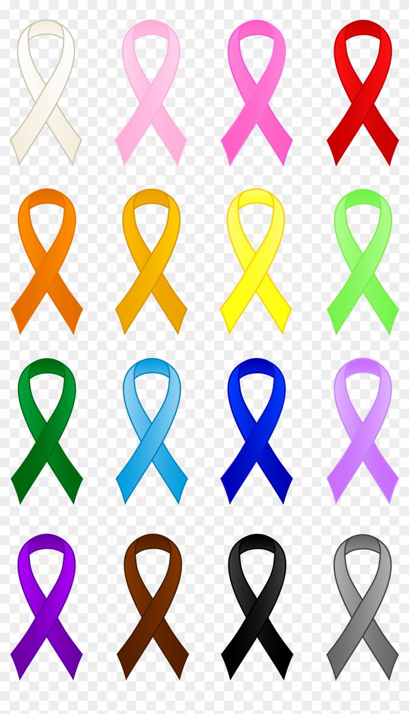 Cancer Awareness Ribbon Clip Art Techflourish Collections Cancer