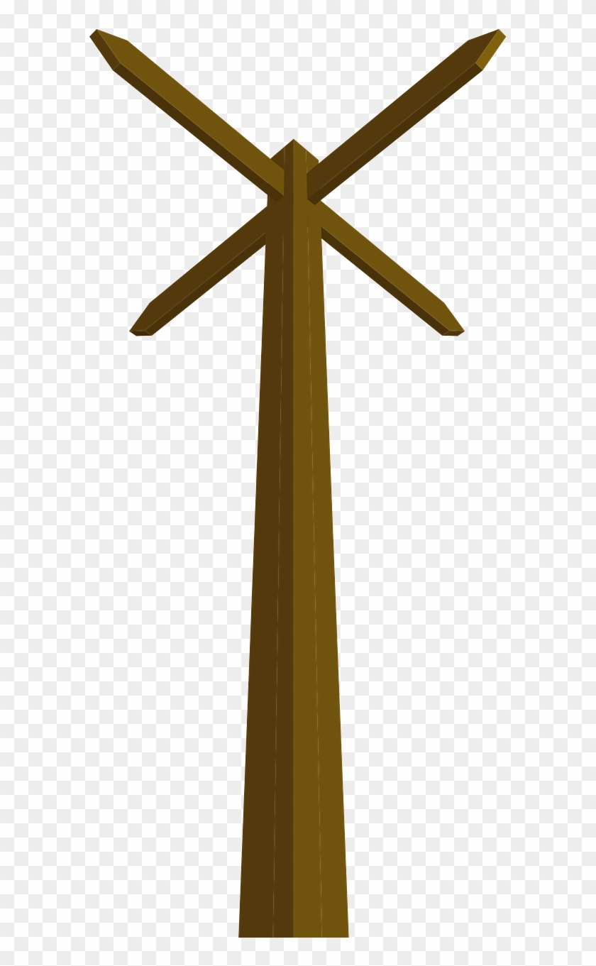 Way Pole 5652 Large - Wooden Post Free Clipart, HD Png Download #300175