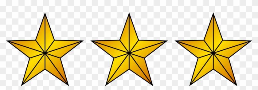 3 Gold Stars Clipart #301481