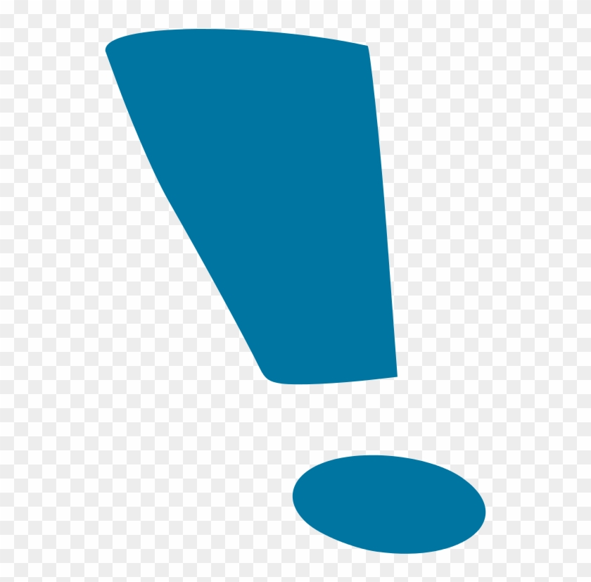 Blue Exclamation Mark - Blue Exclamation Point Png Clipart #304750