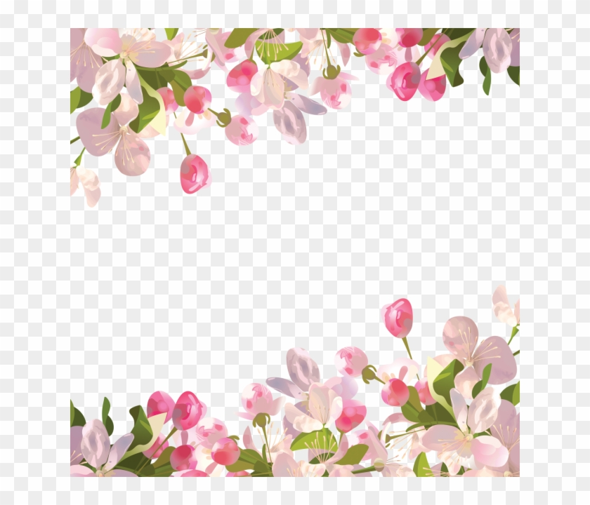 Realistic Spring Flowers Background, Spring, Flowers - Transparent Floral Background Png Clipart #305090
