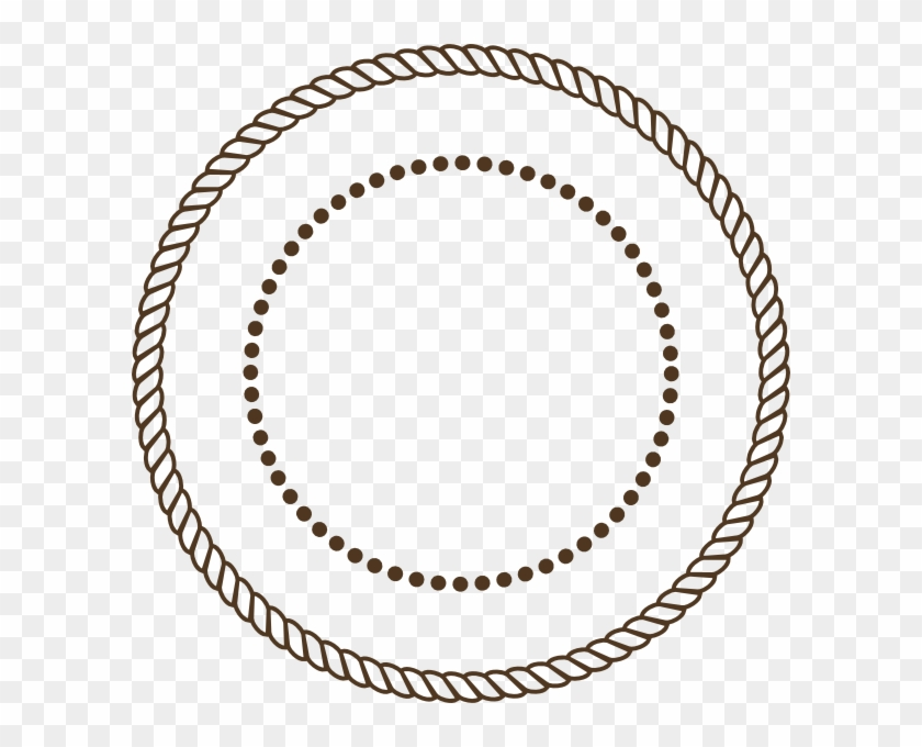 Graphic Transparent Stock Stamp Clipart Circle Pencil - Vector Rope Circle Border - Png Download #305214