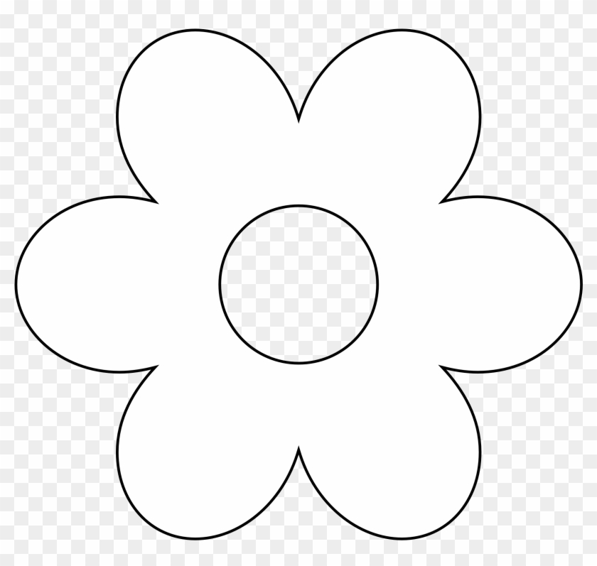 Clipart Spring Flowers Black And - Flower White Vector Png Transparent Png #307048