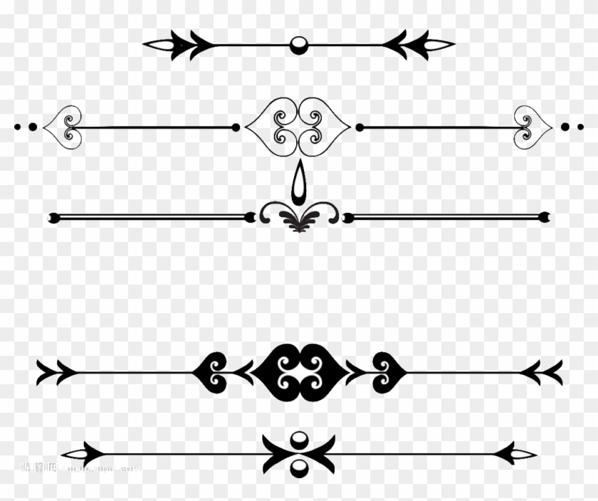 Ornament Line Png - Border Straight Line Design Clipart #3000893