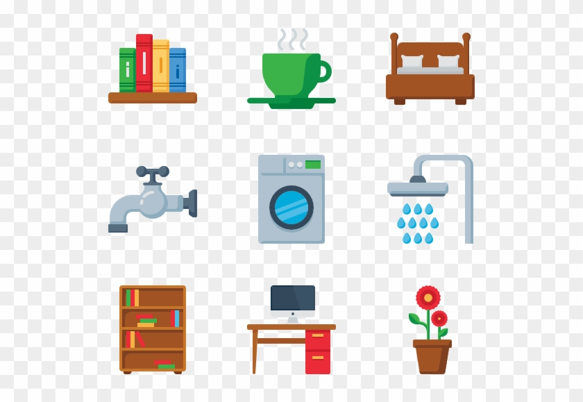 House Icons 5368 Free Vector Icons - Home Furniture Icon Png Clipart #3001487