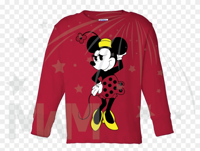 Very Cute Old Style Design Of Minnie Mouse For Toddler - Cartoon Clipart #3007396