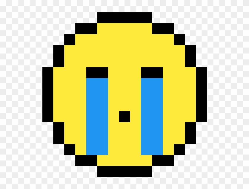 Crying Emoji - Pixel Art Clipart #3010449