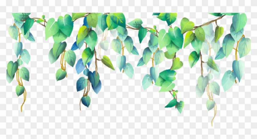 #green #plant #plants #png #pngstickers - Wild Leaves Border Png Clipart #3013750