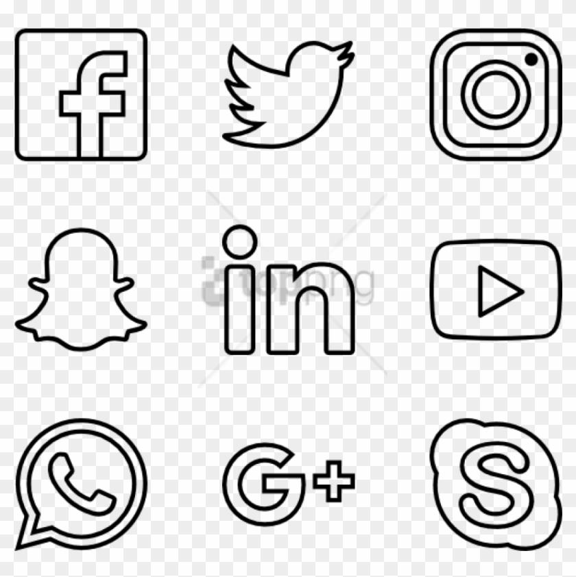 Free Png Transparent Social Media Png Image With Transparent - Social Media Png White Clipart #3016557