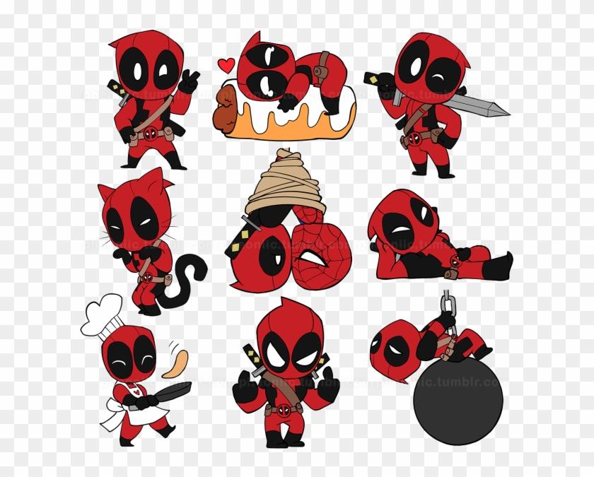 Cute Deadpool Deadpool Chibi Deadpool X Spiderman Dedpul Chibi Clipart 3017208 Pikpng