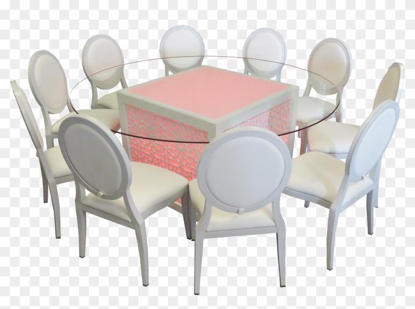 Mashrabiya Round Gl Dining Table With Dior Chair