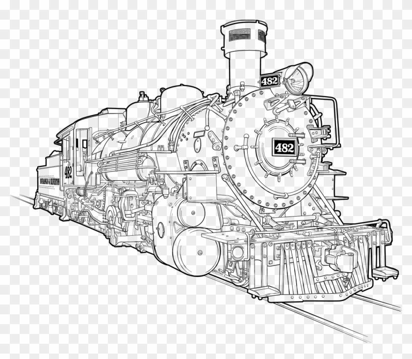 How To Draw A Train Drawing Steam Train Transparent Drawing Pic Of Train Engine Clipart 3031785 Pikpng