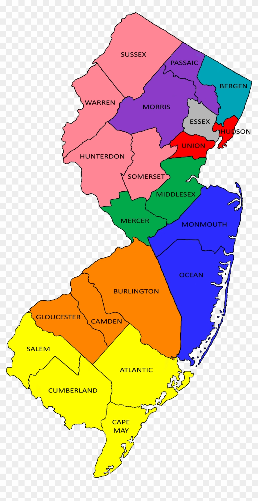 Mhc Ppc 2018 Map - New Jersey Map Pine Barrens, HD Png ...