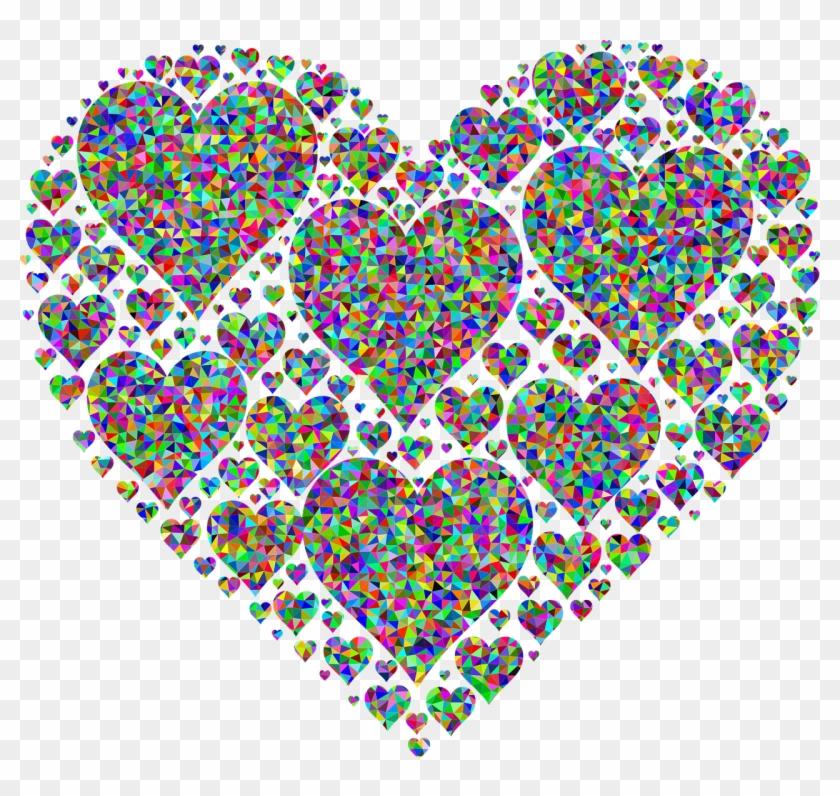 Fractal Colorful Prismatic Png Image - Love Black Heart Emoji Clipart #3044698
