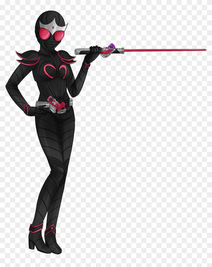 By Placing The Queen Memory Into The Maximum Slot, - Kamen Rider Oc Female Clipart #3051111