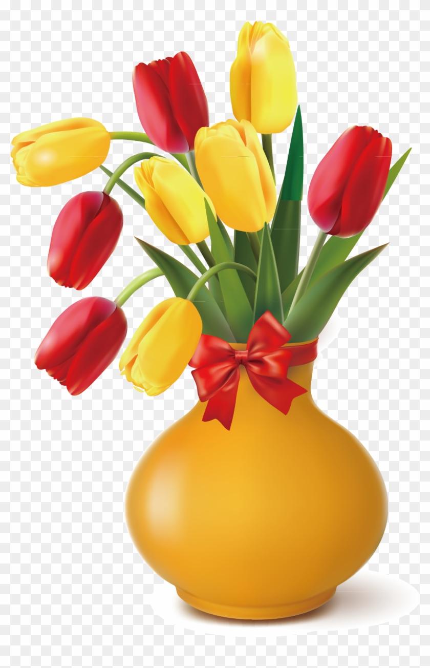 Vase Clipart Flower Photography Png - Flower Vase Vector Png Transparent Png #3053092