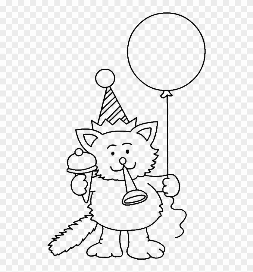 Party Blower Coloring Page - Party Horn - Free Transparent PNG ... | 902x840