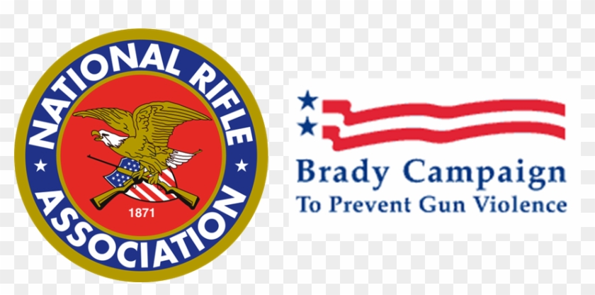 Logos Of The National Rifle Association And The Brady - National Rifle Association Logo Png Clipart #3061398