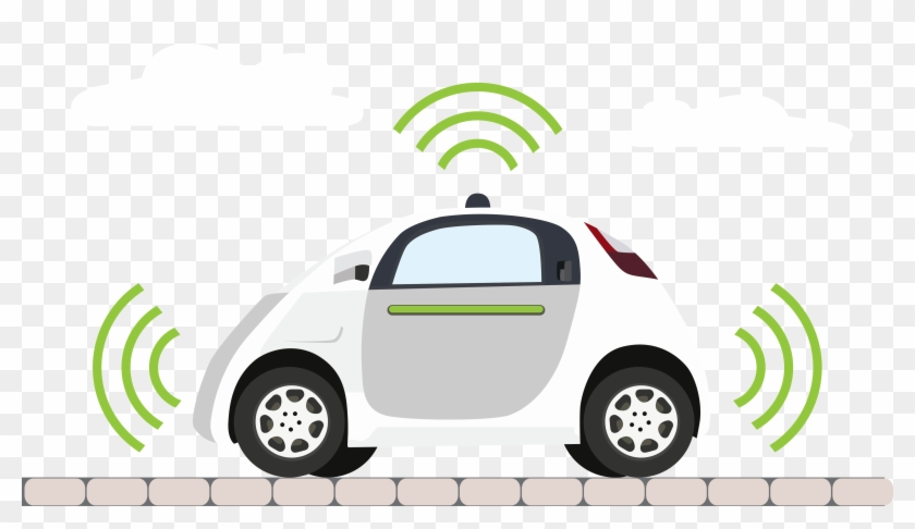 Is Driver-less Car System Racist - Self-driving Car Clipart (#3064061) -  PikPng