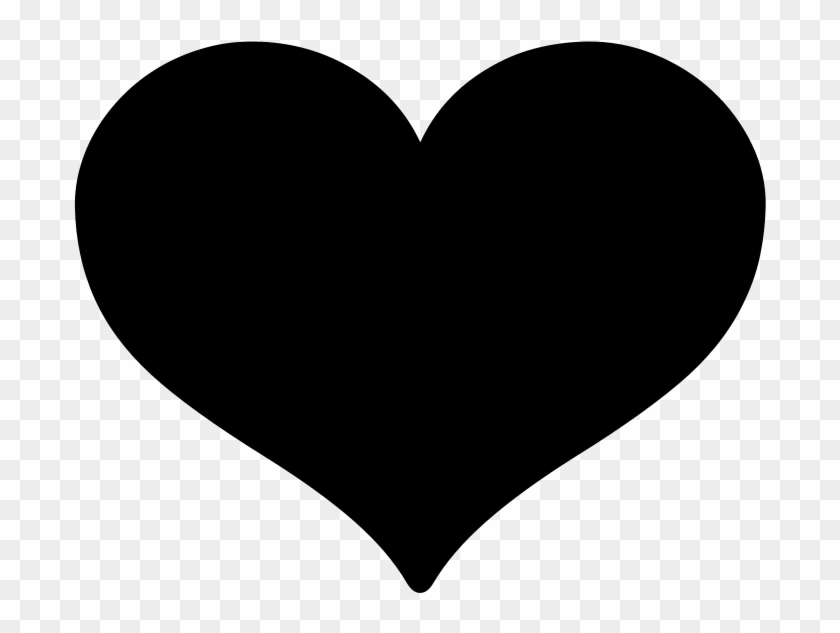 Android Emoji - Black Heart Icon Png Clipart #3074655