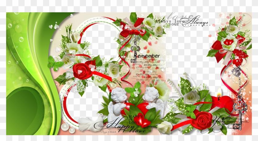 Wedding Love Frame Photoshop Png - Garden Roses, Transparent Png #3080792