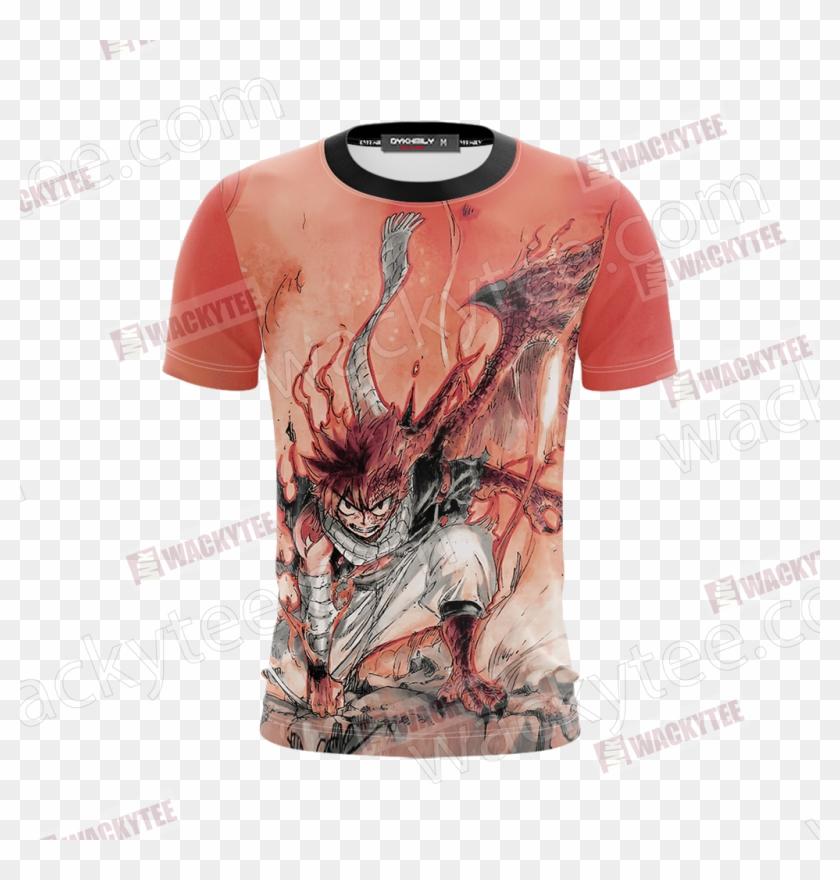 Dragon Cry Natsu Dragneel Unisex 3d T-shirt Fullprinted - Fairy Tail Natsu Adulte Clipart #3083775