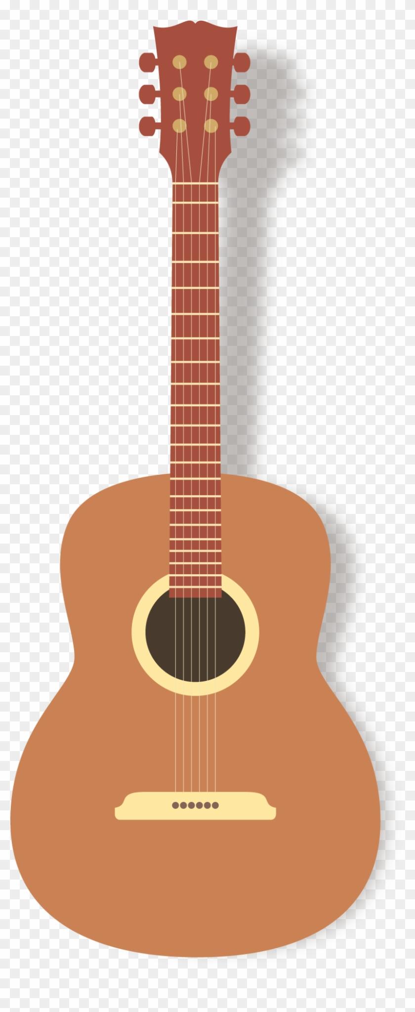 Guitar Clipart Png - Acoustic Guitar Vector Png Transparent Png #3084503