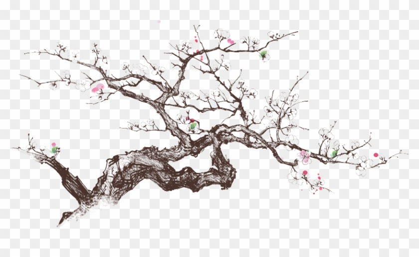 Meldville Cherry Blossoms - Chinese Painting Clipart #3090863