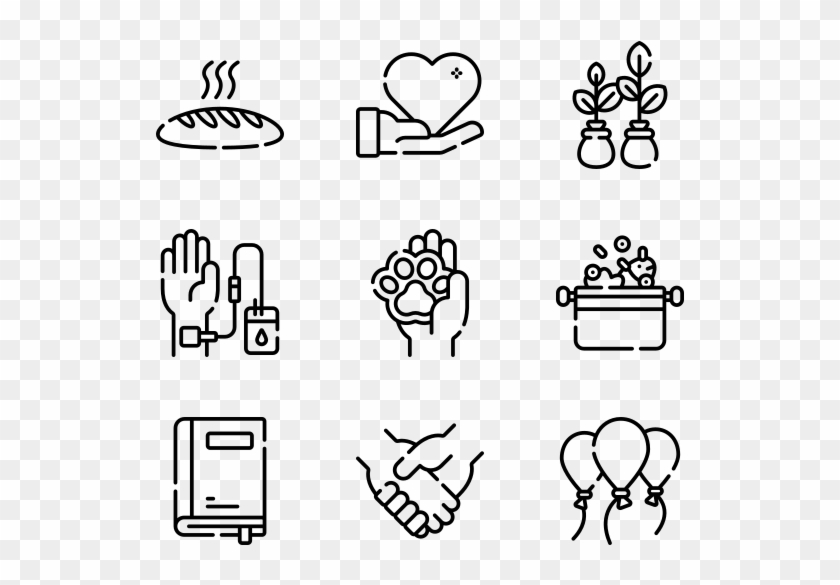 Charity - Hand Drawn Icons Png Clipart #3099094