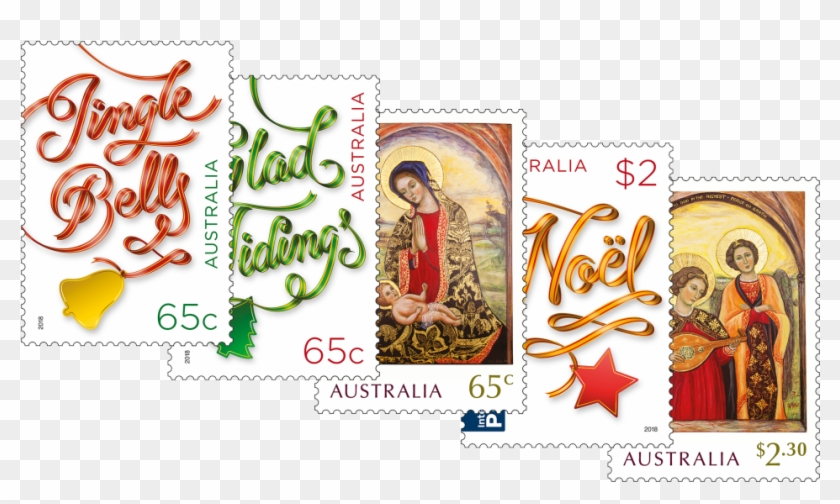 Set Of Stamps - Australian Christmas Stamps 2018 Clipart #3099625