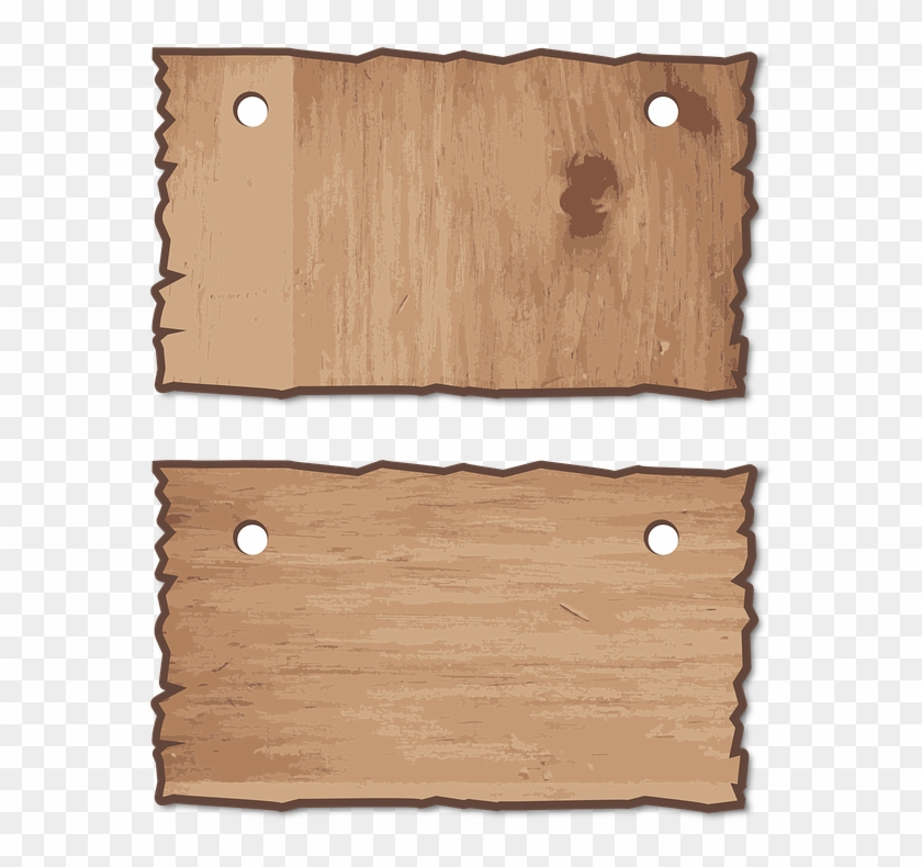 Wood, Wooden, Signs, Set, Hang, Hanging, Blank, Empty - Papan Gantung Png Clipart #311599