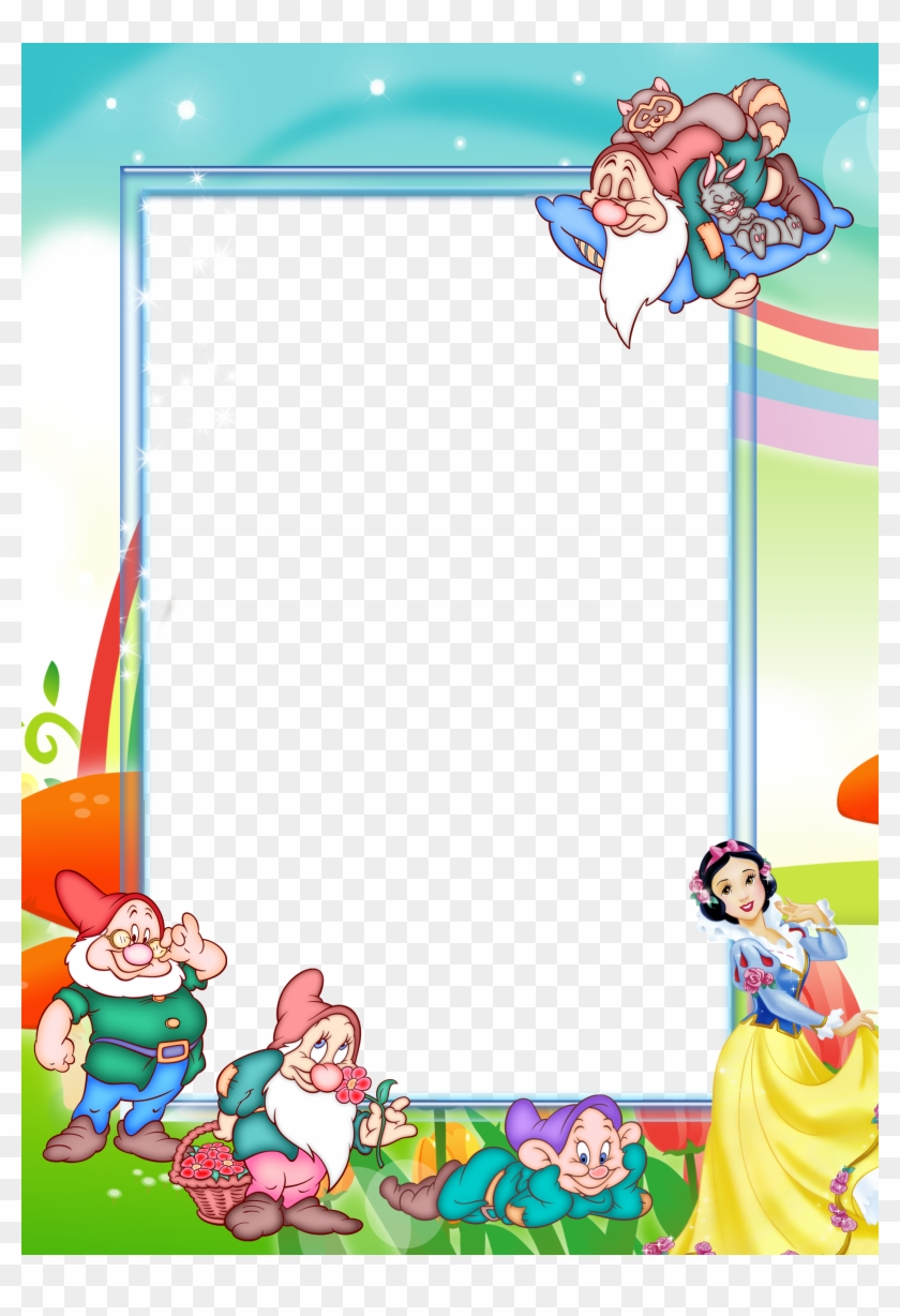 Transparent Kids Png Photo Frame With Snow-white And - Snow White And The Seven Dwarfs Frame, Png Download #312035