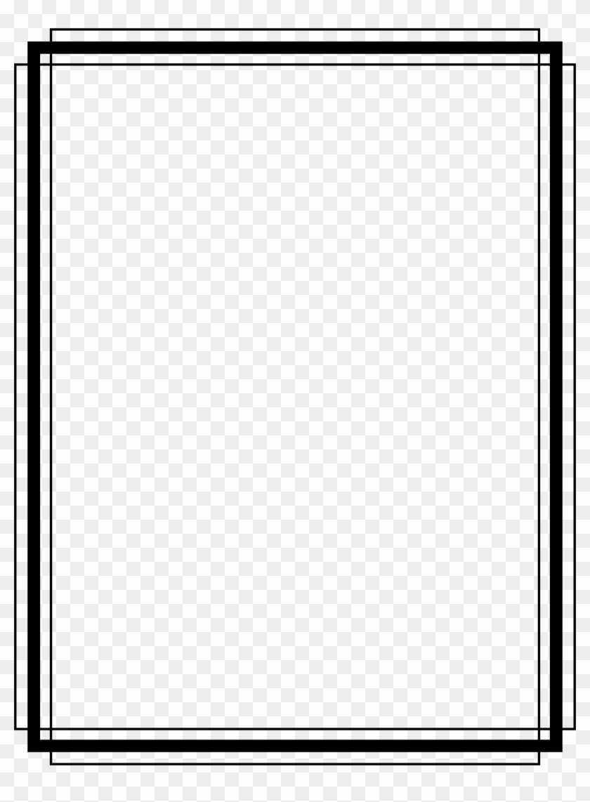 1746 X 2292 16 - Simple Black And White Border Clipart #312272
