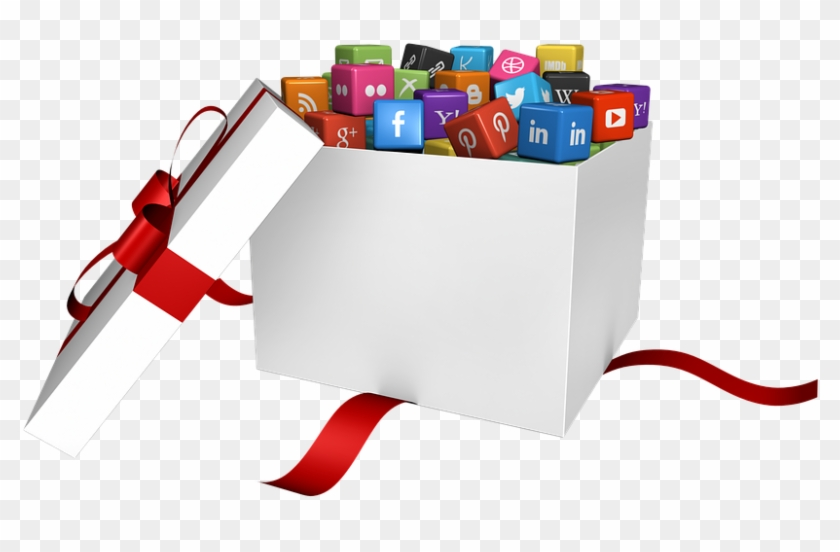 Social Media, Social, Networking, Computer, Icon - Social Media Icons In Box Clipart #312409